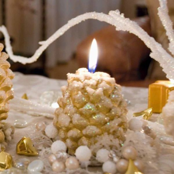Picture of Christmas Candle Pine Cone, small