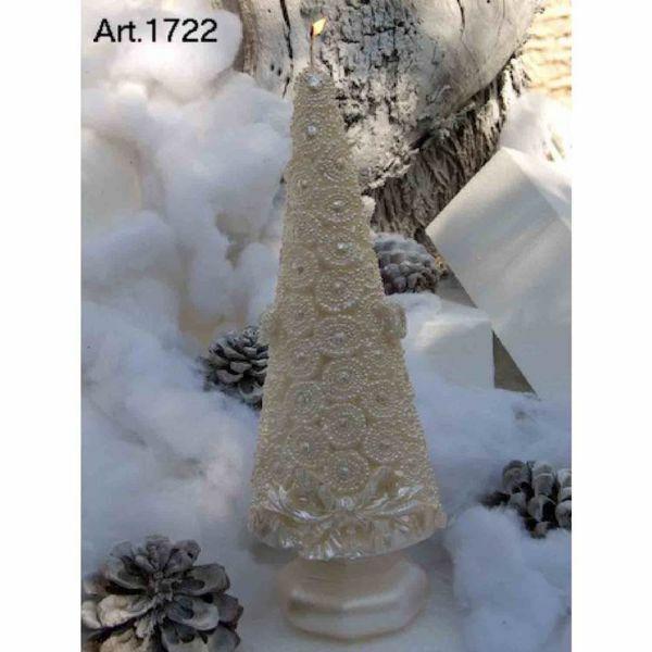 Imagen de Árbol de Navidad con Corales Vela de Navidad