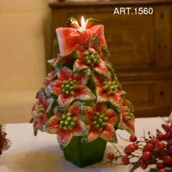 Picture of Christmas Tree with vase Christmas Candle