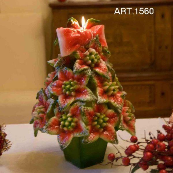 Immagine di Albero di Natale con vasetto Candela di Natale