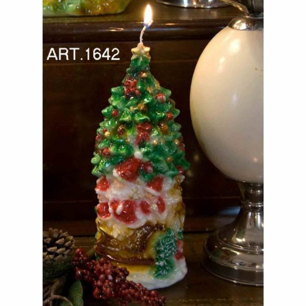 Imagen de Árbol de Navidad y Renos Vela Navideña