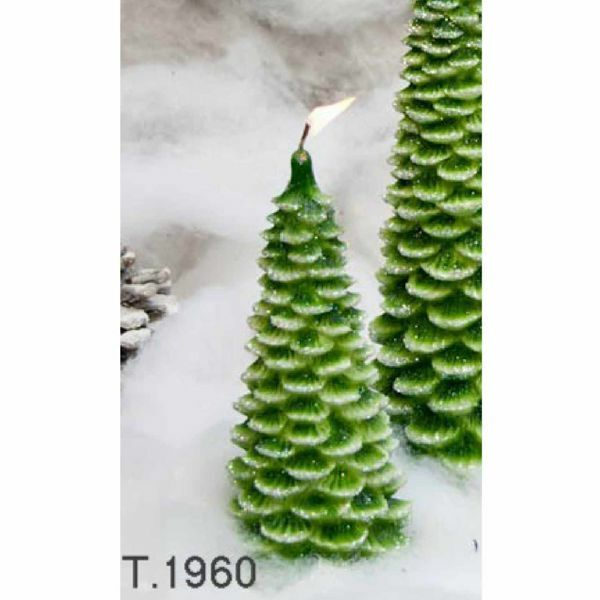 Picture of Christmas Tree with Glitter, small - Christmas Candle