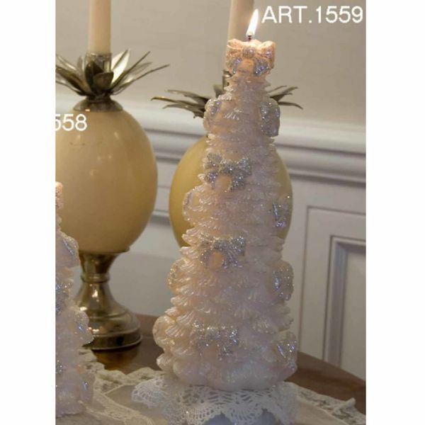 Picture of Christmas Candle Pine with decorations, big