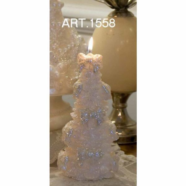 Picture of Christmas Candle Pine with decorations, small
