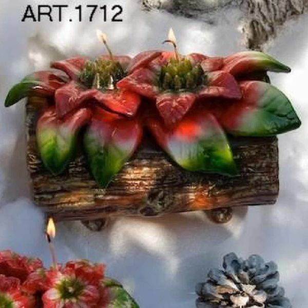 Picture of Christmas Candle Trunk with Poinsettia, big