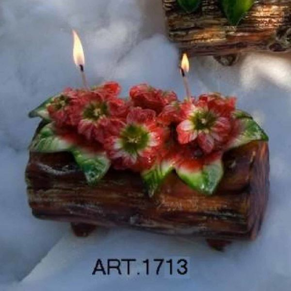 Picture of Christmas Candle Trunk with Poinsettia