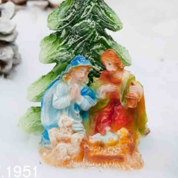 Picture of Christmas Candle Nativiry, small