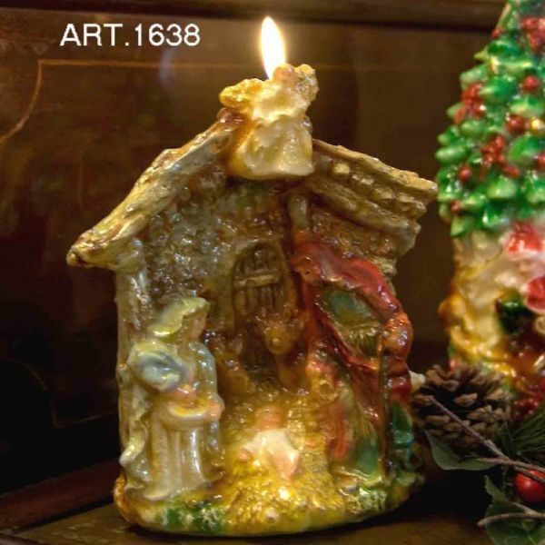 Picture of Christmas Candle Stable Nativity, small