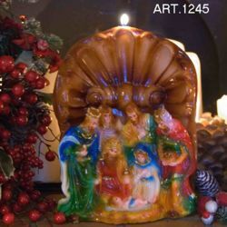 Picture of Christmas Candle Shell Nativity