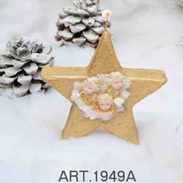 Picture of Christmas Candle Standing Star with decoration