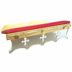 Picture of Altar Lectern for Churches cm 38x25 (15,0x9,8 inch) Plexiglass and brass Missal Bible Stand