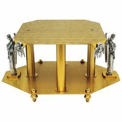 Picture of Throne Base for Monstrance H. cm 17 (6,7 inch) Angels and Evangelists brass Church Display