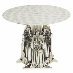 Picture of Throne Base for Monstrance H. cm 16 (6,3 inch) Angels bicolour brass Church Display