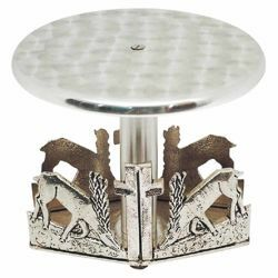 Picture of Throne Base for Monstrance H. cm 13 (5,1 inch) Deers at Spring brass Church Display