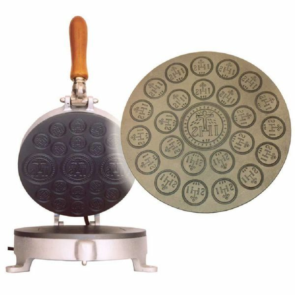 Picture of Altar Bread manual baking machine 1/24 medium cast iron for Holy Mass Communion Hosts wafer
