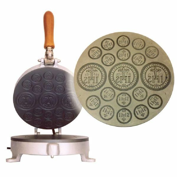 Picture of Altar Bread manual baking machine 3/16 medium cast iron for Holy Mass Communion Hosts wafer