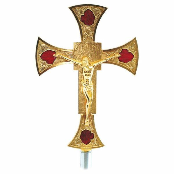Processional Cross Cm 22x31 (8,7x12,2 Inch) With Red