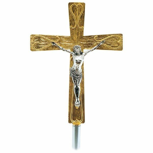 Picture of Processional Cross in brass with decorations