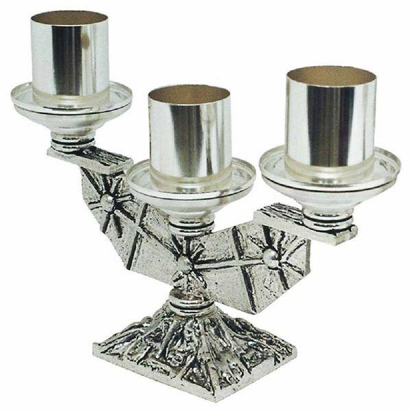 Imagen de Candelabro tres llamas Cruces y Estrellas