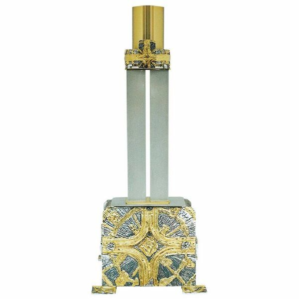 Picture of Paschal Candle Holder in brass with bicolor Crosses