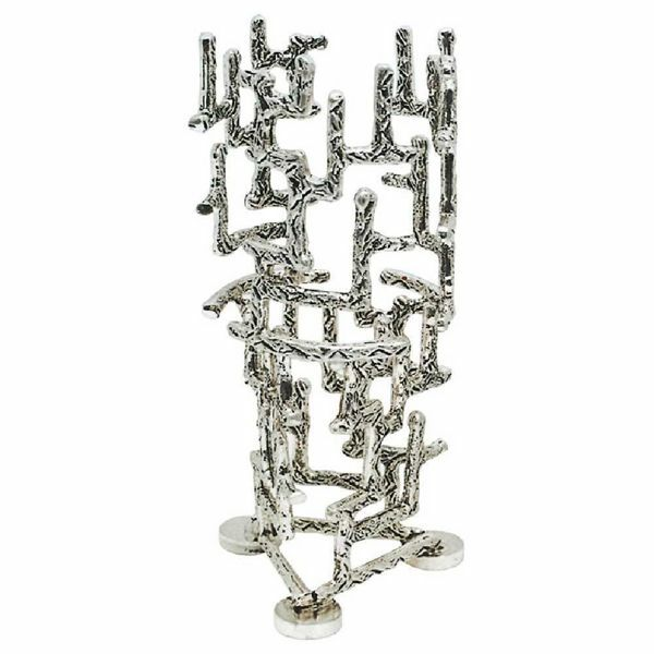Imagen de Lámpara de mesa Santísimo Sacramento H. cm 20 (7,9 inch) estilo moderno con Rejillas de latón porta vela de Altar Iglesia