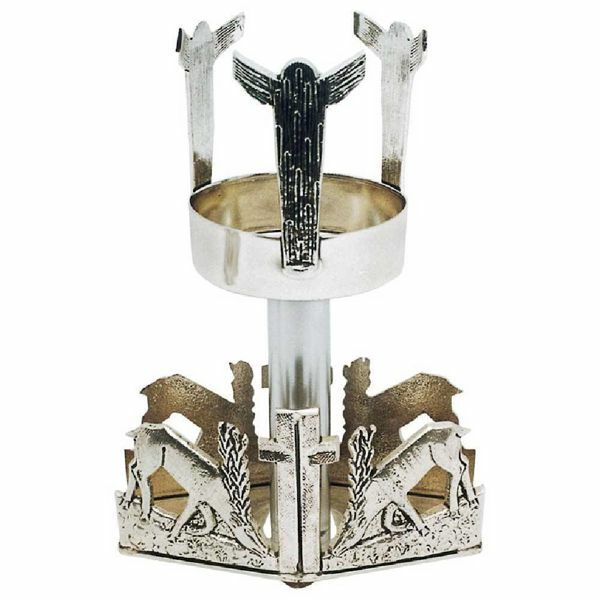 Picture of Altar Sanctuary Lamp Blessed Sacrament H. cm 17 (6,7 inch) Deers at Spring brass Altar Chancel lamp for Church