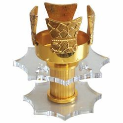 Picture of Altar Sanctuary Lamp Blessed Sacrament H. cm 15 (5,9 inch) Plexiglass and brass Altar Chancel lamp for Church