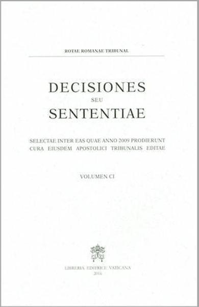 Picture of Decisiones Seu Sententiae Anno 2009 Vol. CI 101