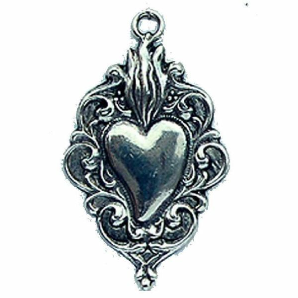 Immagine di Piccolo cuore con fiamme - EX VOTO (AEX114)