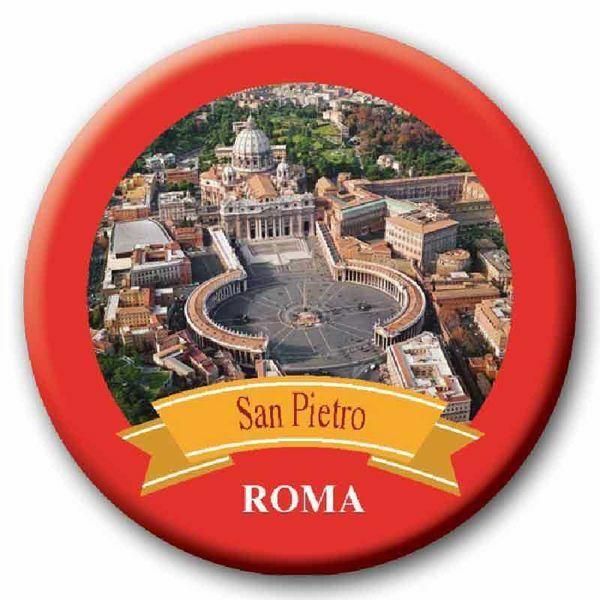 Immagine di Magnete in vetro Roma S. Pietro Diam. cm 5