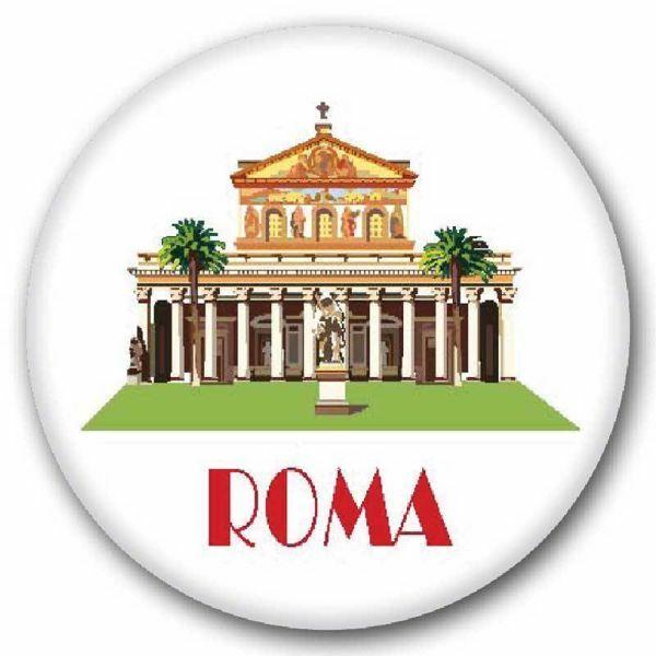 Imagen de Roma San Pedro Imán de vidrio diám. 5 cm (2,0 in)
