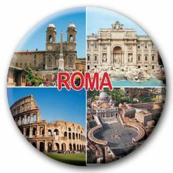 Picture of Rome glass magnet diam. 5 cm (2,0 in)