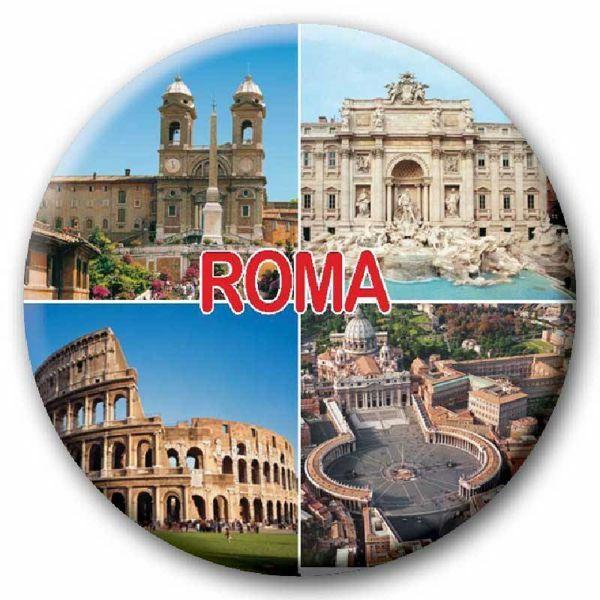 Immagine di Magnete in vetro Roma montaggio Diam. cm 5