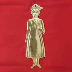 Picture of Female figure, granted wish for maternity - Gold or silver plated Ex Voto