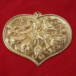 Picture of Votive heart, granted wish for fecundity - Gold or silver plated Ex Voto