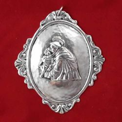Picture of St. Anthony - Oval gold or silver plated Confraternity Medallion