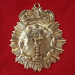 Picture of Blessed Sacrament - Gold or silver plated Confraternity Medal