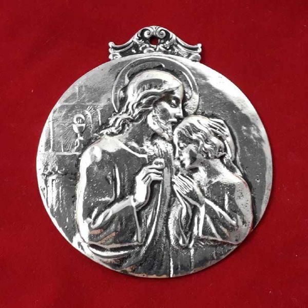 Immagine di San Tarcisio - Medaglia confraternita, bagno oro o argento