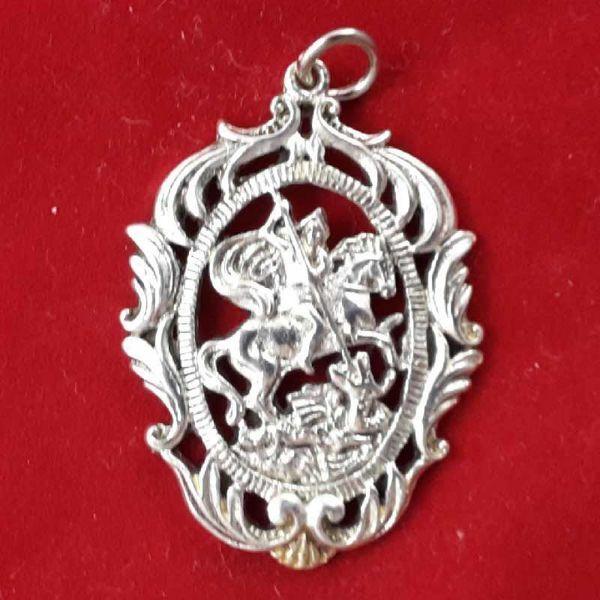 Immagine di San Giorgio - Medaglia pendente, bagno oro o argento