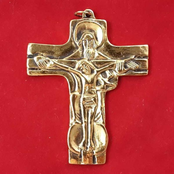 Picture of Trinity - Bishop pectoral Cross with 24 carat gold plated or 1000/1000 silver bath