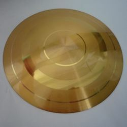 Immagine di Patena eucaristica Diam. cm 14/15/16 (5,5/5,9/6,3 inch) finitura liscia satinata in ottone Oro