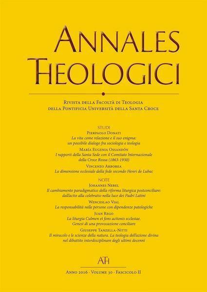 Immagine di Annales Theologici - Annata completa  2017 (2 volumi)