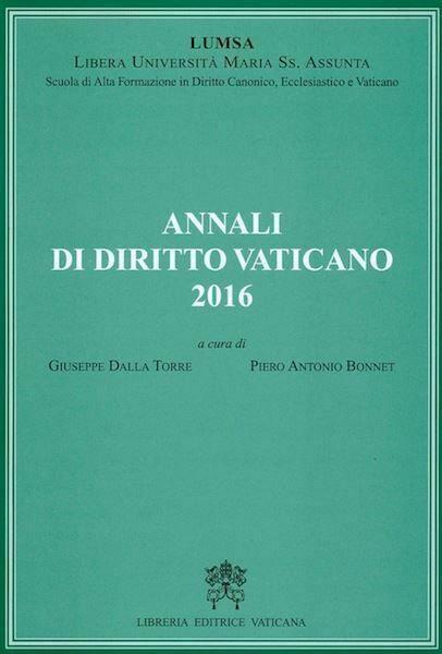 Annali di diritto vaticano 2016
