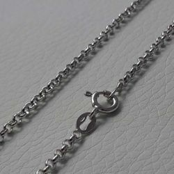 Picture of Cable Rolò Chain Necklace Silver 925 cm 45 (17,7 in) Unisex Woman Man Boy Girl