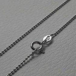 Picture of Beads Chain Necklace Silver 925 cm 45 (17,7 in) Unisex Woman Man Boy Girl