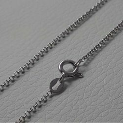 Picture of Cable Rolo Chain Necklace Silver 925 cm 40 (15,7 in) Unisex Woman Man Boy Girl