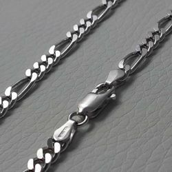 Picture of 3+1 Figaro Chain Silver 925 cm 50 (19,7 in) Unisex Woman Man
