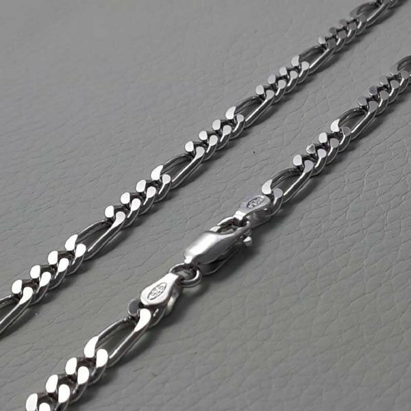 Picture of 3+1 Figaro Chain Silver 925 cm 60 (23,60 in) Unisex Woman Man