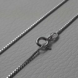 Picture of Box Chain Silver 925 cm 60 (23,60 in) Unisex Woman Man