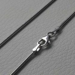 Picture of Snake Chain Necklace Silver 925 cm 45 (17,7 in) Unisex Woman Man Boy Girl